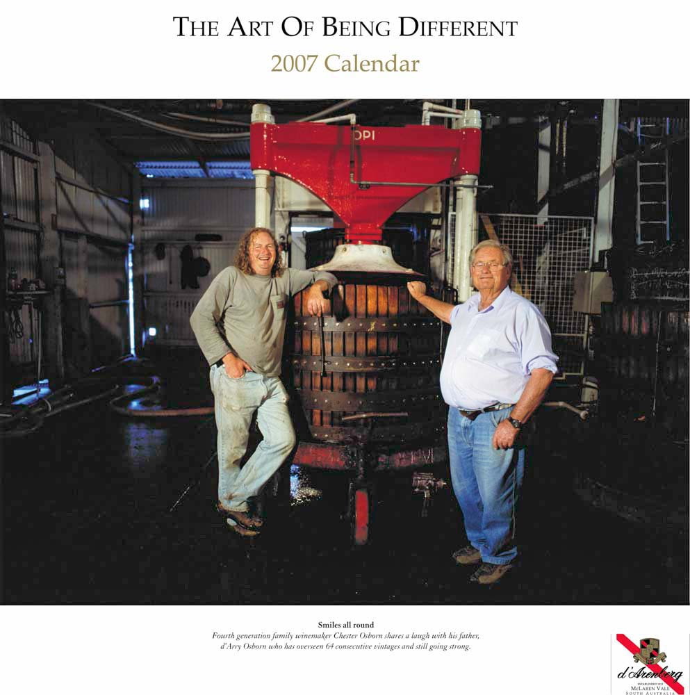 Commercial Photography Adelaide. Winemakers of South Australia. d'Arenberg Basket Press. d'Arry Osborn.