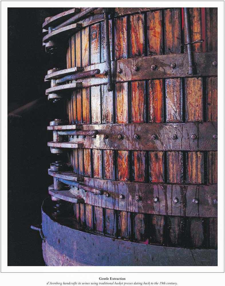 Commercial Photography Adelaide. d'Arenberg basket press.