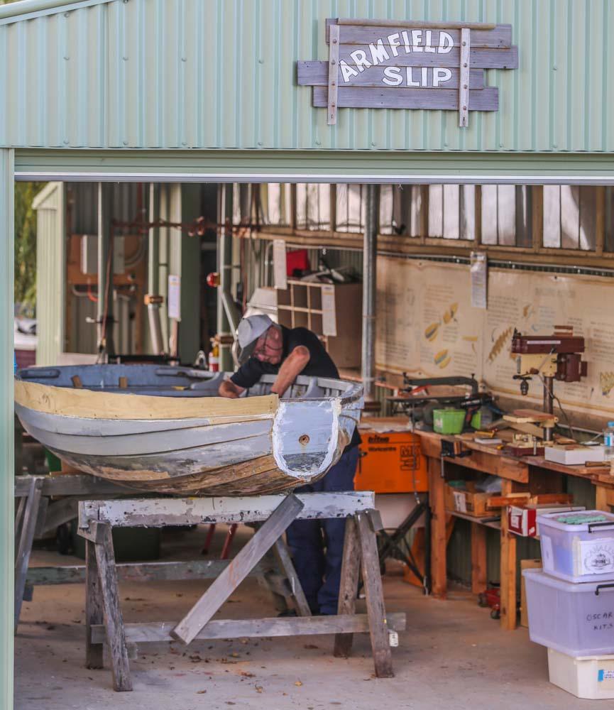 Wooden Boat Festival Goolwa. Armfield slip Goolwa.