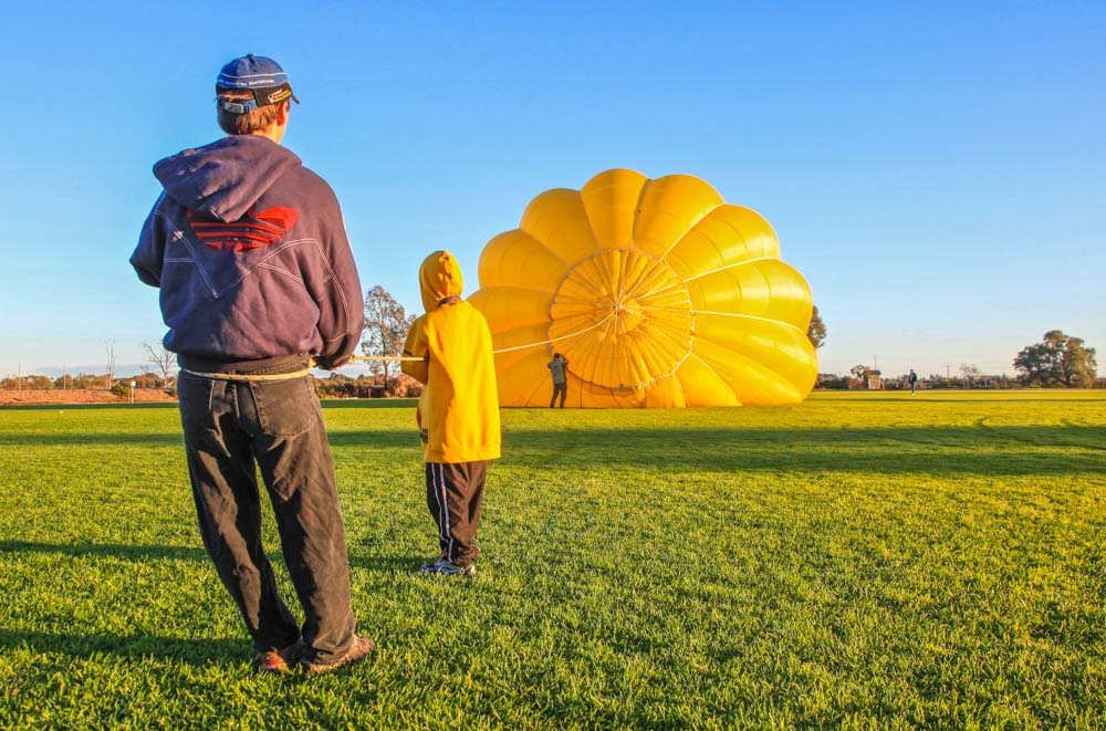 Commercial Photography. Hot Air Balloon.