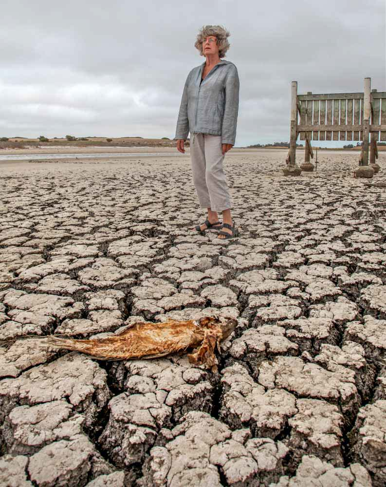 Editorial Photography Australia. Fairfax. Drought. Murray River. Dianne Bell.