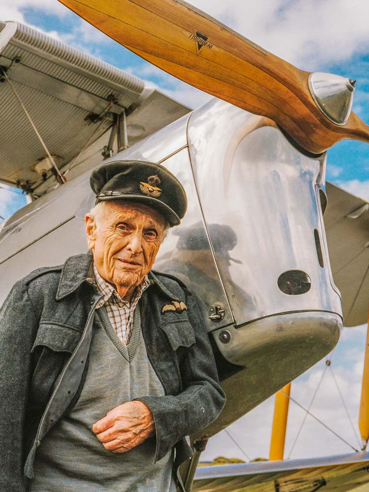 Veterans Affairs Photography Adelaide. RAAF Tigermoth pilot.