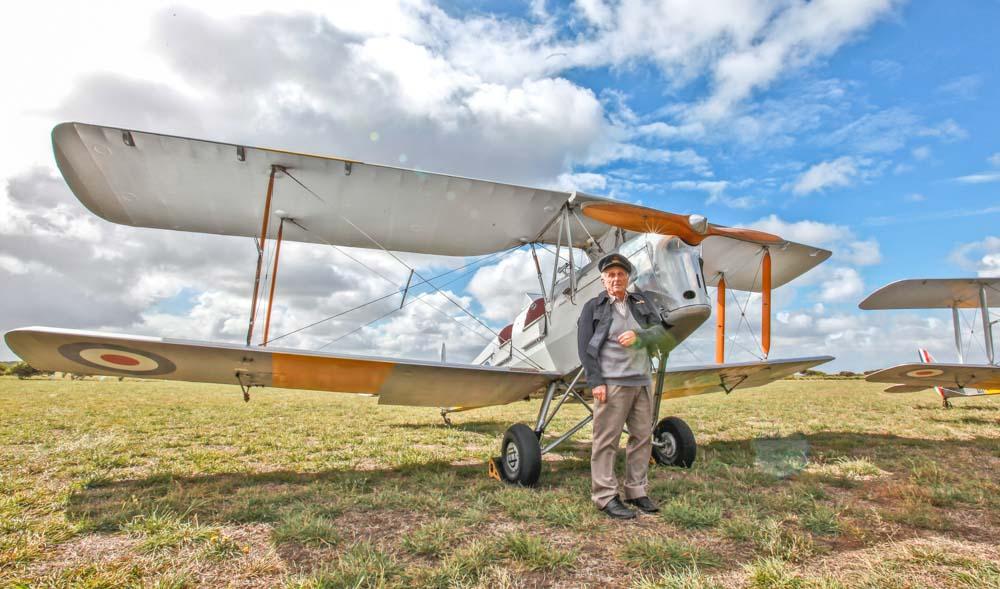 Veterans Affairs Photography. RAAF. Tigermoth WW2 Pilot.