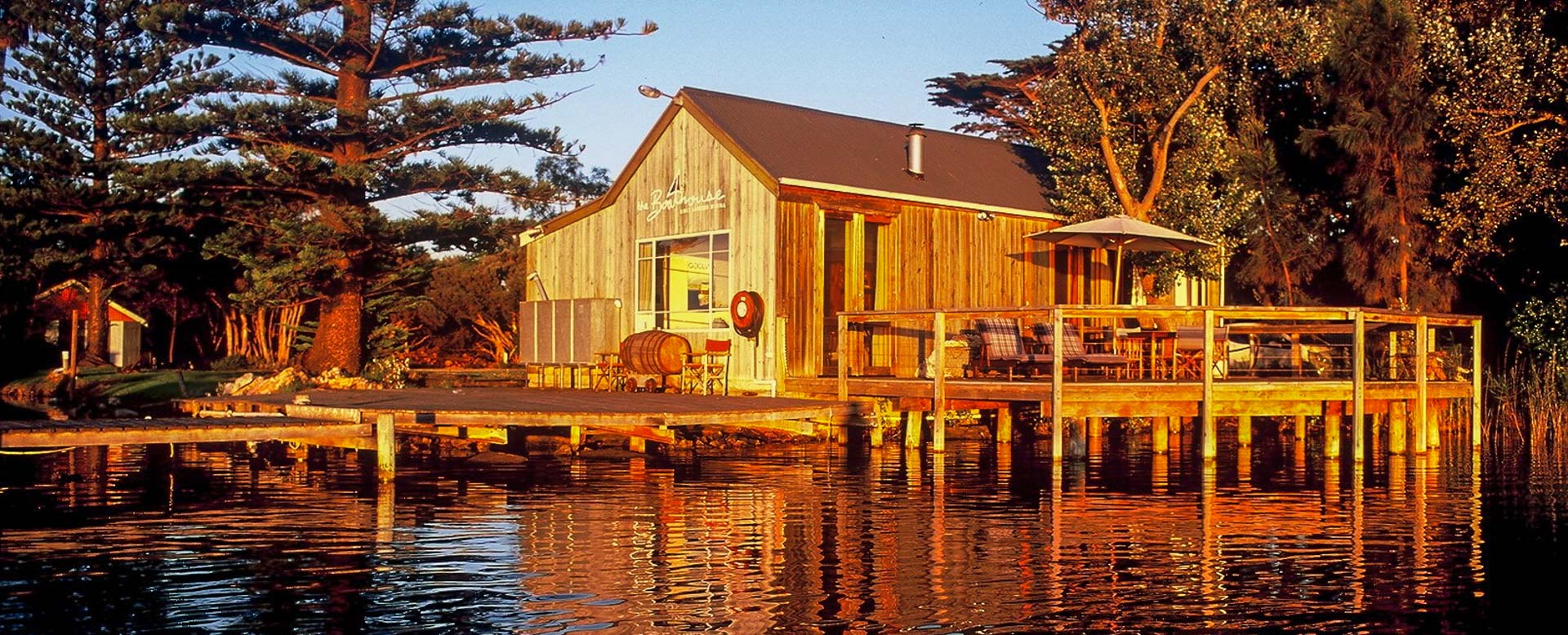 Commercial Photography Adelaide. Boathouse & Birks River Retreats.