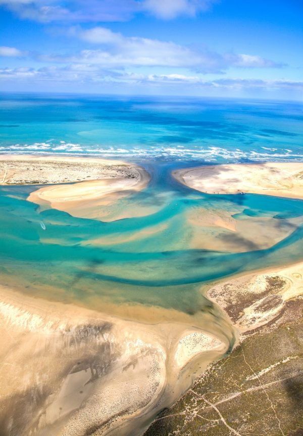 Aerial Photography of the Murray Mouth South Australia